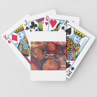 Planets in cosmic waves bicycle playing cards