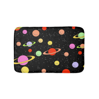 PLANETS IN SPACE BATH MAT