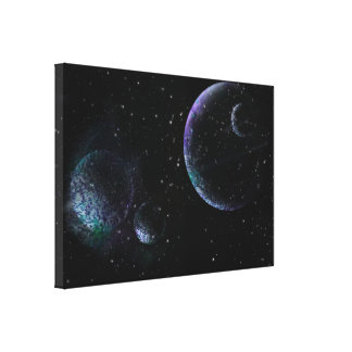 Planets in Universe Canvas Print