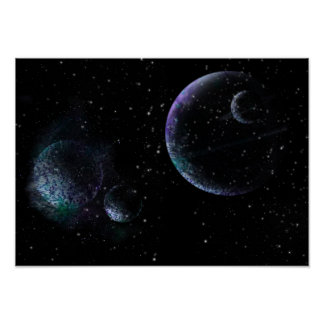 Planets in Universe Poster
