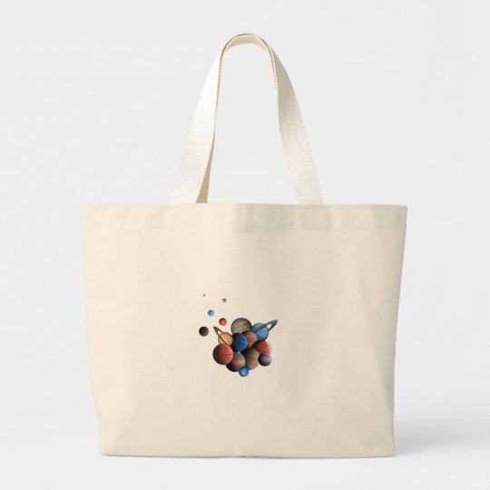 Planets Large Tote Bag
