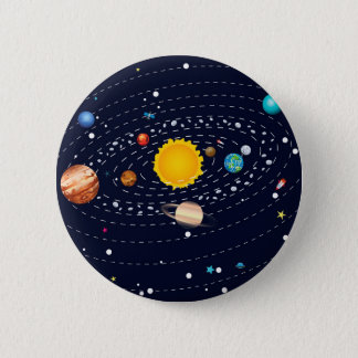 Planets of Solar System 2 2 Inch Round Button