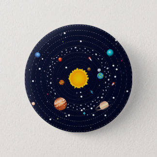 Planets of Solar System 2 Inch Round Button