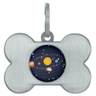 Planets of Solar System 2 Pet Name Tags