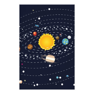 Planets of Solar System 2 Stationery