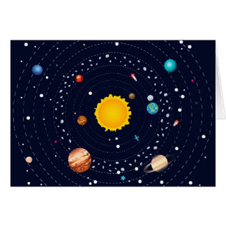 Planets of Solar System Card