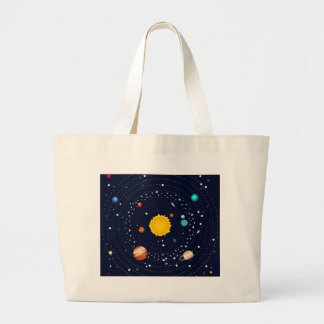 Planets of Solar System Large Tote Bag