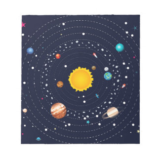 Planets of Solar System Notepads