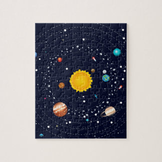 Planets of Solar System Puzzle