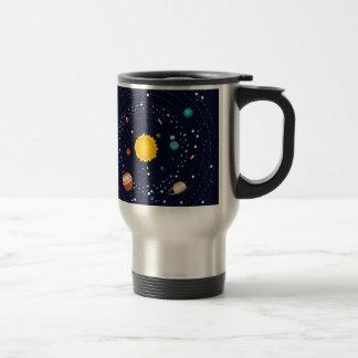 Planets of Solar System Travel Mug