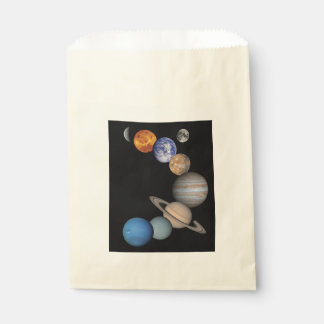 Planets of the solar system favour bag