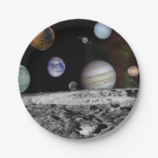Planets of the solar system paper plate