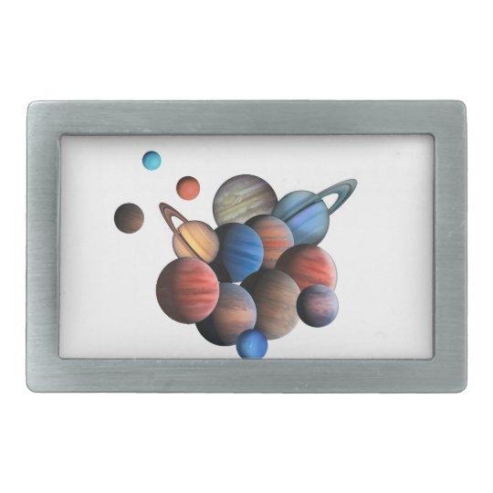 Planets Rectangular Belt Buckles
