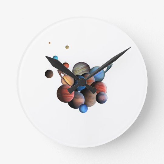 Planets Round Clock
