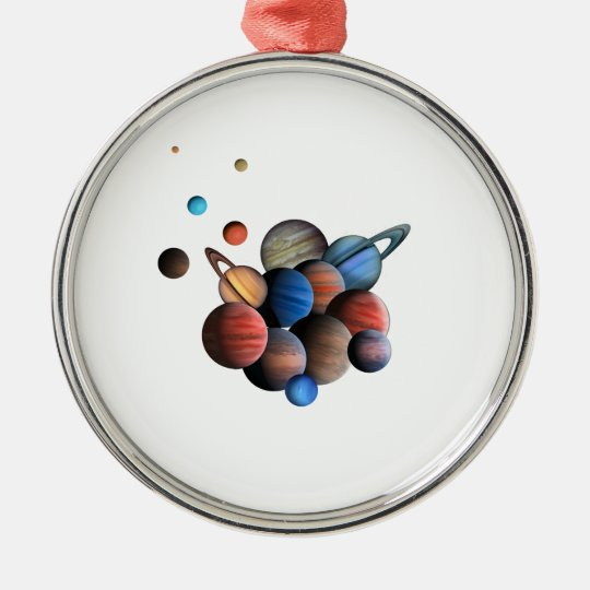 Planets Silver-Colored Round Ornament