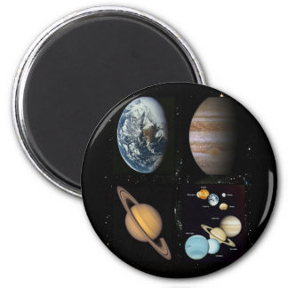 Planets solar system collage refrigerator magnet