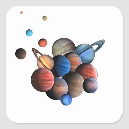 Planets Square Sticker
