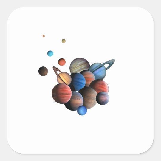 Planets Square Sticker