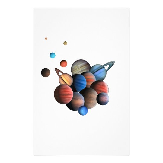 Planets Stationery