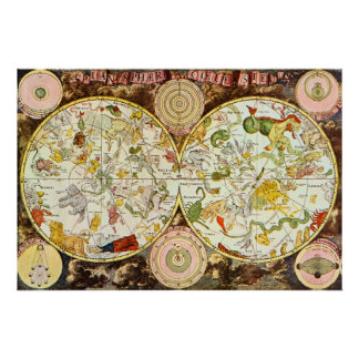 Planisphæri Cœleste Astrology - Poster