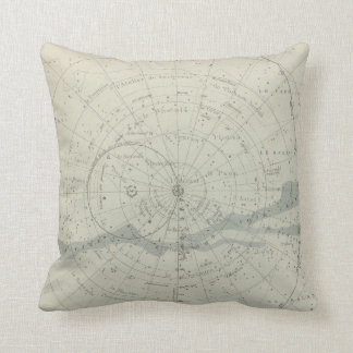 Planisphere Celeste Hemisphere Throw Pillow