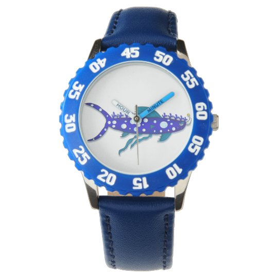 Plankton shark cartoon watch