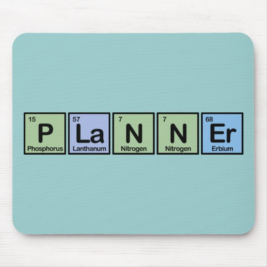 Planner made of Elements Mouse Pad