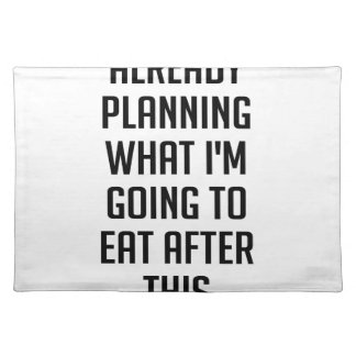 Planning What To Eat Place Mat