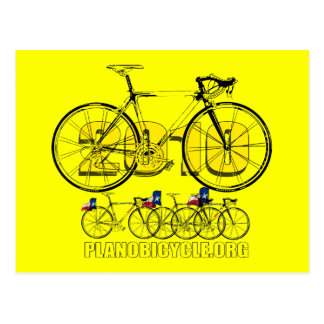 Plano Bicycle 2010 Cycling Logo Tees & Gifts Postcard
