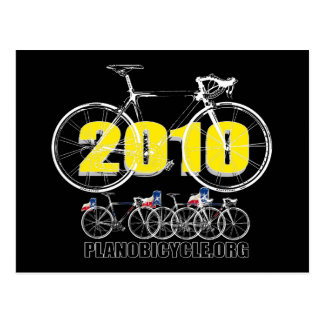 Plano Bicycle 2010 Cycling Logo White Postcard