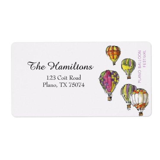 Plano Texas Balloon Festival Address Label