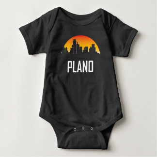 Plano Texas Sunset Skyline Baby Bodysuit