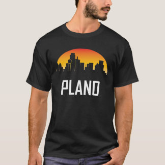 Plano Texas Sunset Skyline T-Shirt
