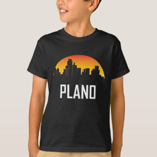 Plano Texas Sunset Skyline T-Shirt