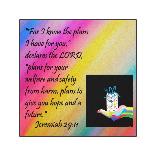PLANS FOR HOPE AND A FUTURE CANVAS PRINT