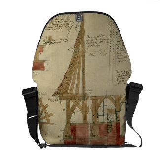 Plans for the Red House Bexley Heath pen and ink Messenger Bags