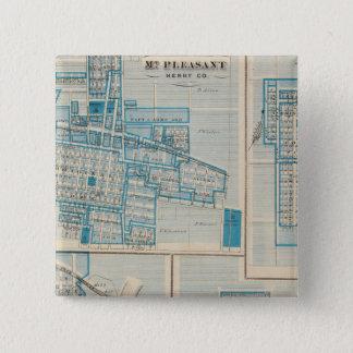 Plans of Mt Plessant, Toledo 2 Inch Square Button