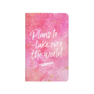 Plans to take over the world journal notebook