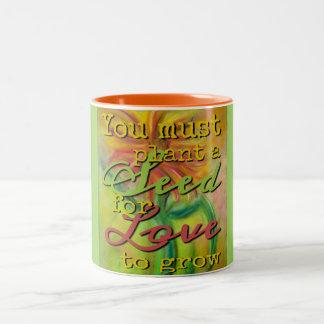 Plant a Seed - Dahlia Garden Two-Tone Coffee Mug