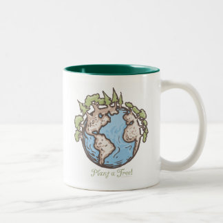 Plant a Tree Earth Day Gear Two-Tone Coffee Mug