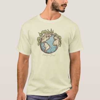 Plant a tree Earthday Earth by Mudge Studios T-Shirt