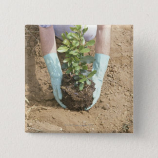 Plant a Tree on Earth Day 2 Inch Square Button
