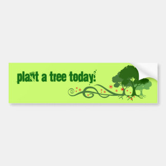 Plant a tree today! bumper sticker