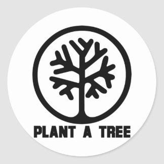 Plant a Tree TShirt Round Sticker