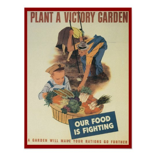 Plant A Victory Garden WPA Poster