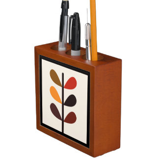 Plant Abstract Autumn Desk Organizer
