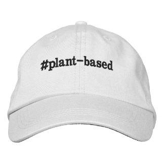 """#plant-based"" adjustable cap"