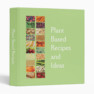 Plant Based Diet Recipes 3 Ring Binders