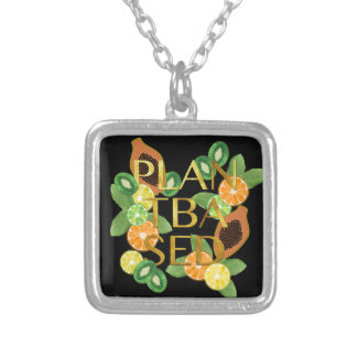 PLANT BASED FRUIT SILVER PLATED NECKLACE