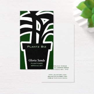 Plant Business Houseplants Horticulture Green Business Card